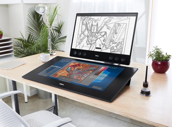 Bright Home Office featuring Precision Smartdesk Workstation